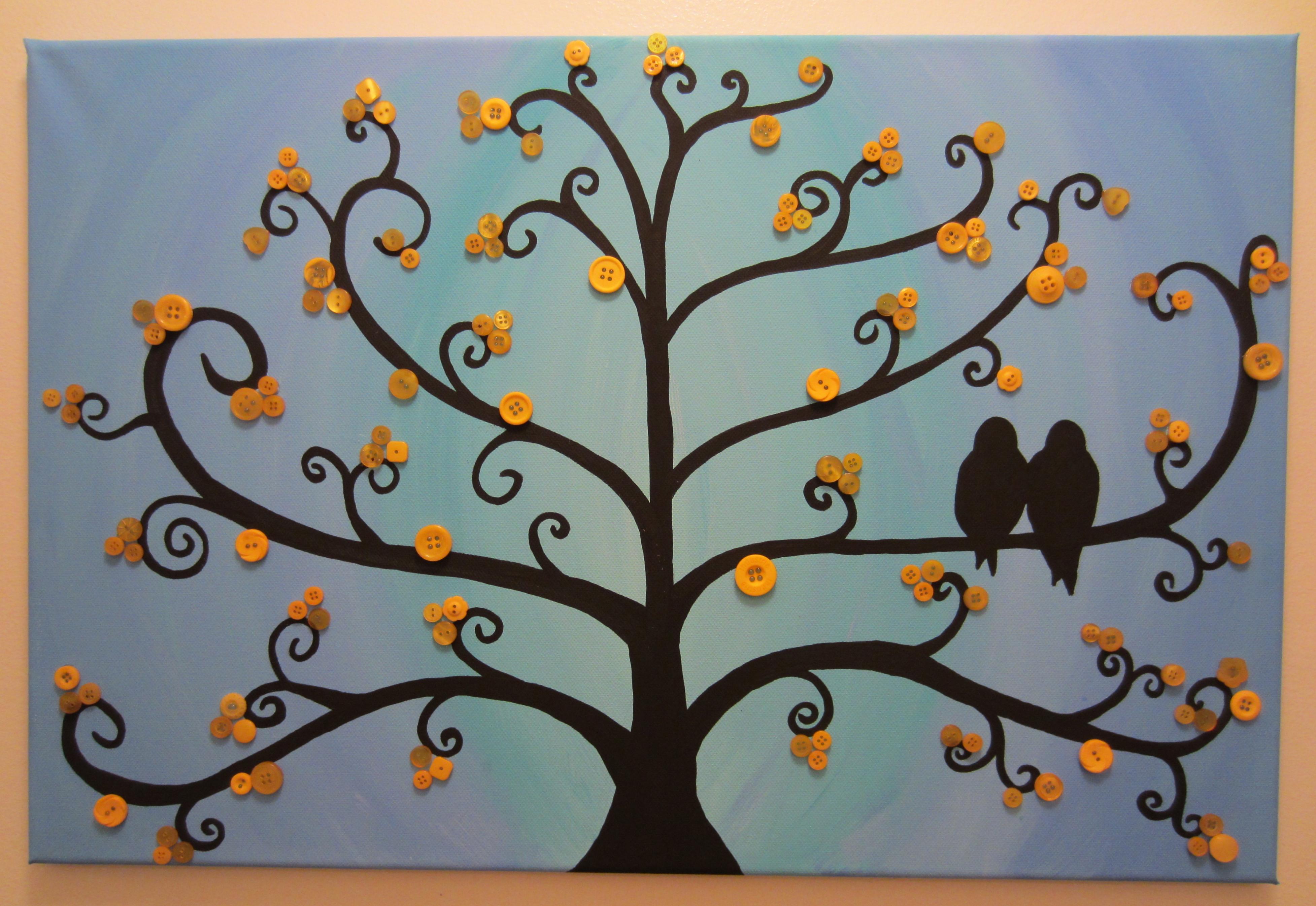 Galer a de im genes paredes trukos - Como hacer cuadros con botones ...
