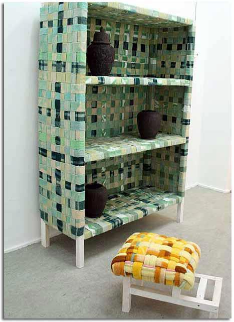 Muebles reciclados con tela trukos for Reciclado de muebles y objetos